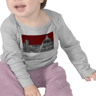 Wine red Florence dome T-shirt