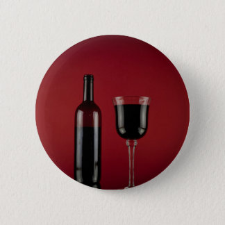 Wine red glass bottle 2 inch round button