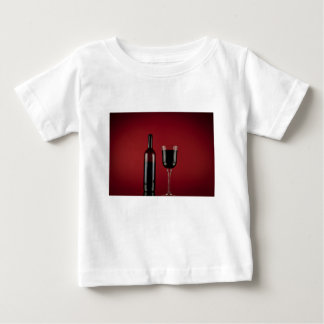 Wine red glass bottle baby T-Shirt