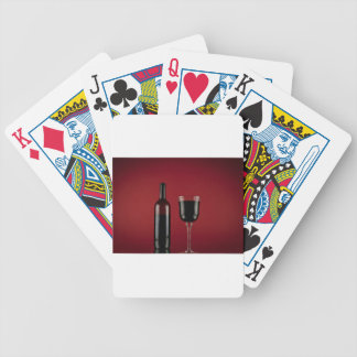 Wine red glass bottle bicycle playing cards