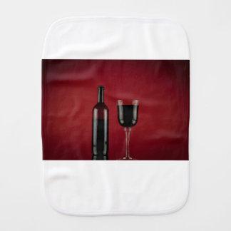 Wine red glass bottle burp cloth