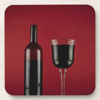 Wine red glass bottle coaster