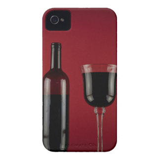 Wine red glass bottle iPhone 4 Case-Mate case