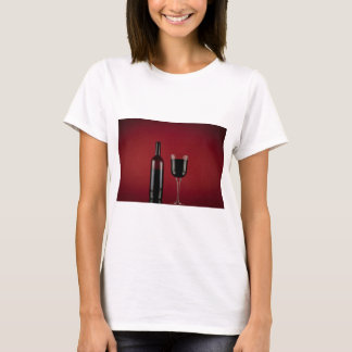 Wine red glass bottle T-Shirt