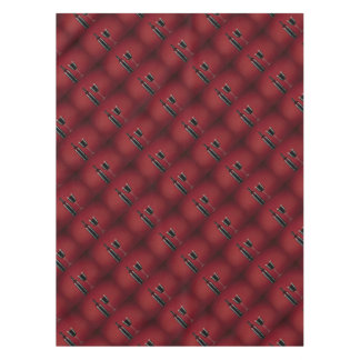 Wine red glass bottle tablecloth
