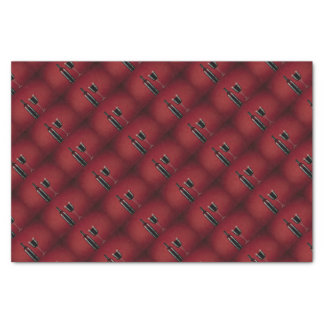 Wine red glass bottle tissue paper