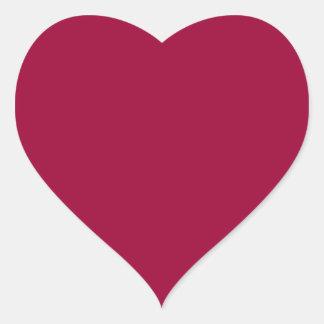 Wine Red Heart Sticker
