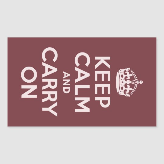 Wine Red Keep Calm and Carry On Sticker