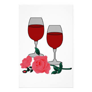 Wine & Roses Personalized Stationery