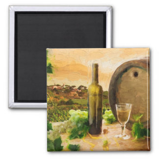Wine Scene in the Vineyard Magnet