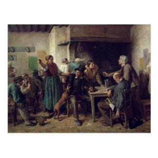 Wine Shop Monday, 1858 Postcard