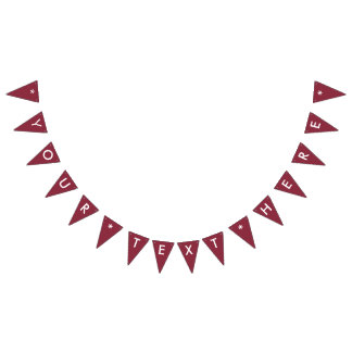 Wine Solid Color Customize It Bunting Flags