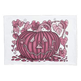 Wine Spidery Pumpkin Pillowcase
