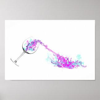 Wine Splash Poster