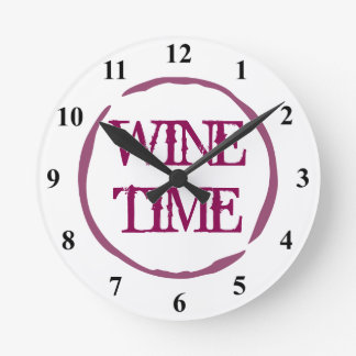 Wine stain ring kitchen wall clock for wine lover