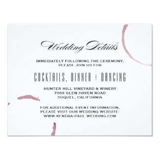 Wine Stains Winery Vineyard Information Card
