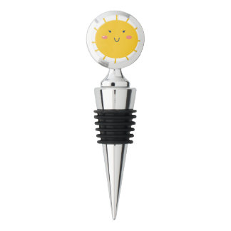 Wine stopper with Little sun