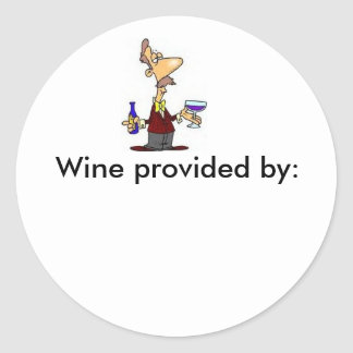 Wine_Taster, Wine provided by: - Customized Classic Round Sticker