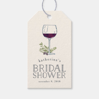 Wine Tasting Bridal Shower Favor Tags Pack Of Gift Tags