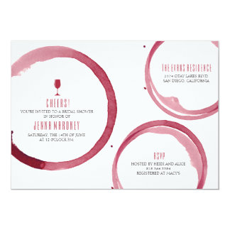 Wine Tasting Bridal Shower Invitation Red