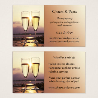 Wine Tasting Dating Agency Business Card