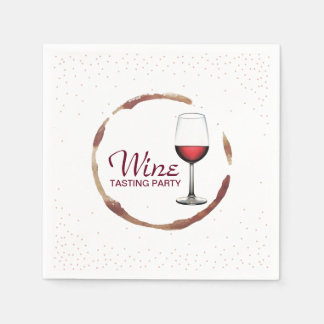 Wine Tasting Party Classy Wine Glass Stain Disposable Napkin