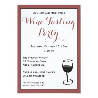 elegant wine tasting party invitations announcements zazzle canada. Black Bedroom Furniture Sets. Home Design Ideas