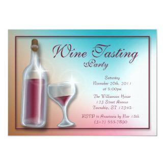 "Wine Tasting Party Invitations 5"" X 7"" Invitation Card"