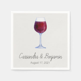 Wine Tasting Party or Shower Cocktail Napkins