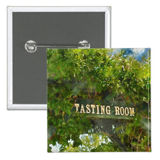 Wine Tasting Room Sign 2 Inch Square Button