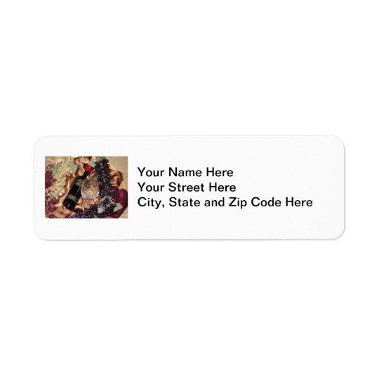 Wine Theme Address Labels