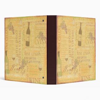 Wine Theme Binder