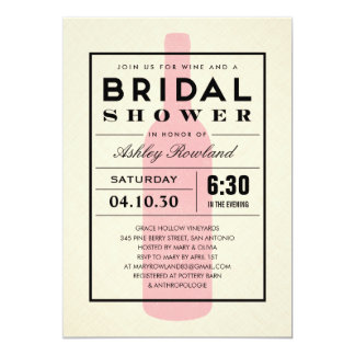 Wine Themed Bridal Shower Invitations