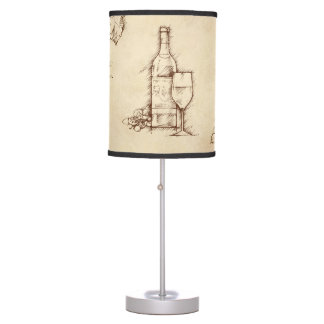 Wine Themed Drawing Desk Lamps