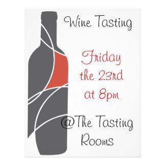 Wine themed flyer