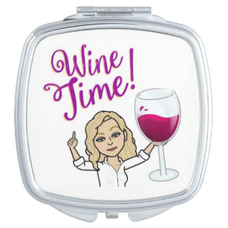 Wine Time Compact Mirror