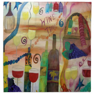 Wine Time Dinner napkins