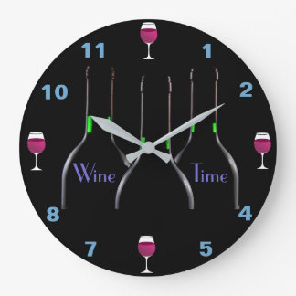 Wine Time Kitchen Clock