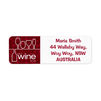Wine Time Return Address Label