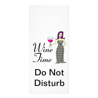 """""""Wine Time"""" WineWomenDesigns.com Promotional Rack Card"""