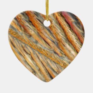 Wine under the microscope - Chardonnay Ceramic Heart Ornament