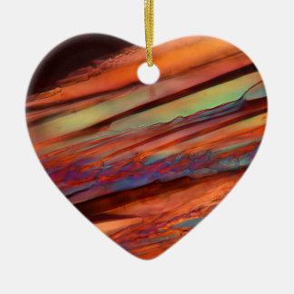 Wine under the microscope - Merlot Ceramic Heart Ornament