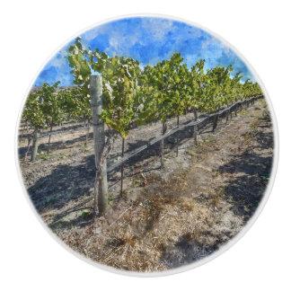 Wine Vineyard in Napa Valley Ceramic Knob