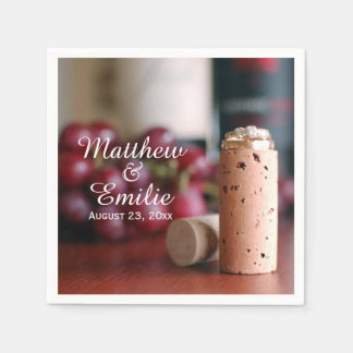 Wine Vineyard Wedding Engagement Napkins Disposable Napkins