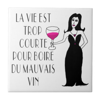 Wine Vixen Simply Wicked French Saying Tile