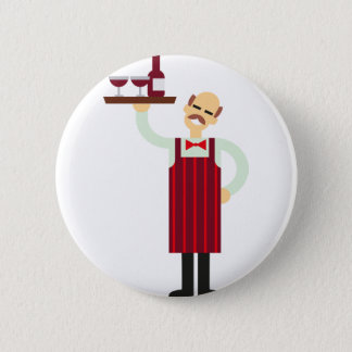 Wine Waiter 2 Inch Round Button