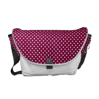 Wine & White polka dot bag Courier Bag