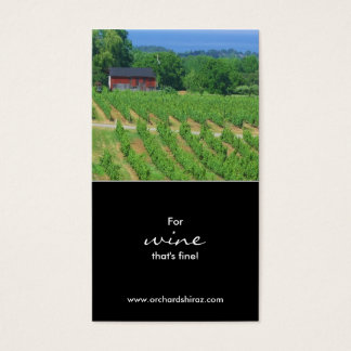 Wine / Winery Photograph Business Card