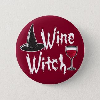 Wine Witch 2 Inch Round Button