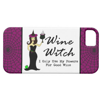 """Wine Witch """"I Only Use My Powers For Good Wine"""" iPhone 5 Covers"""